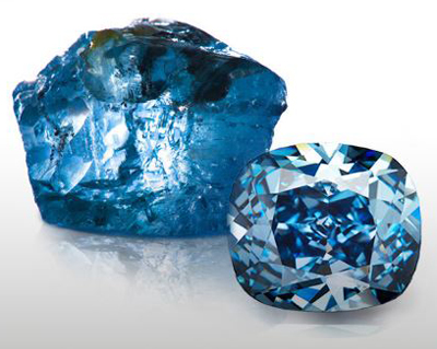 Blue Moon Diamond Photos courtesy of Forbes magazine and Christies. The Blue Moon sold for $48.5 Million Dollars